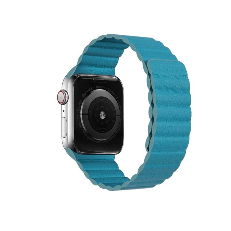Remienok Leather Loop na Apple Watch 38mm/40mm modrý
