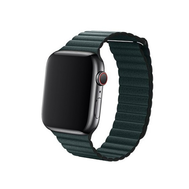 Remienok Leather Loop na Apple Watch 38mm/40mm zelený