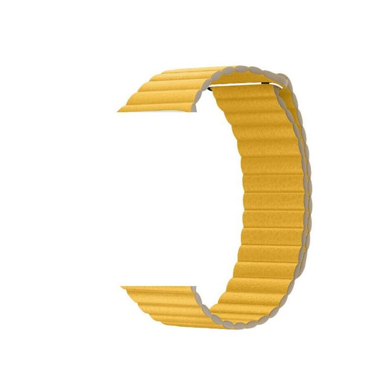 Remienok Leather Loop na Apple Watch 42mm/44mm žltý