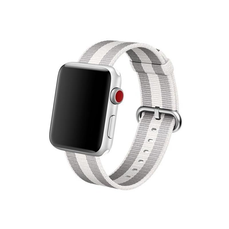 Remienok na Apple Watch 38mm/40mm Woven Black Stripe