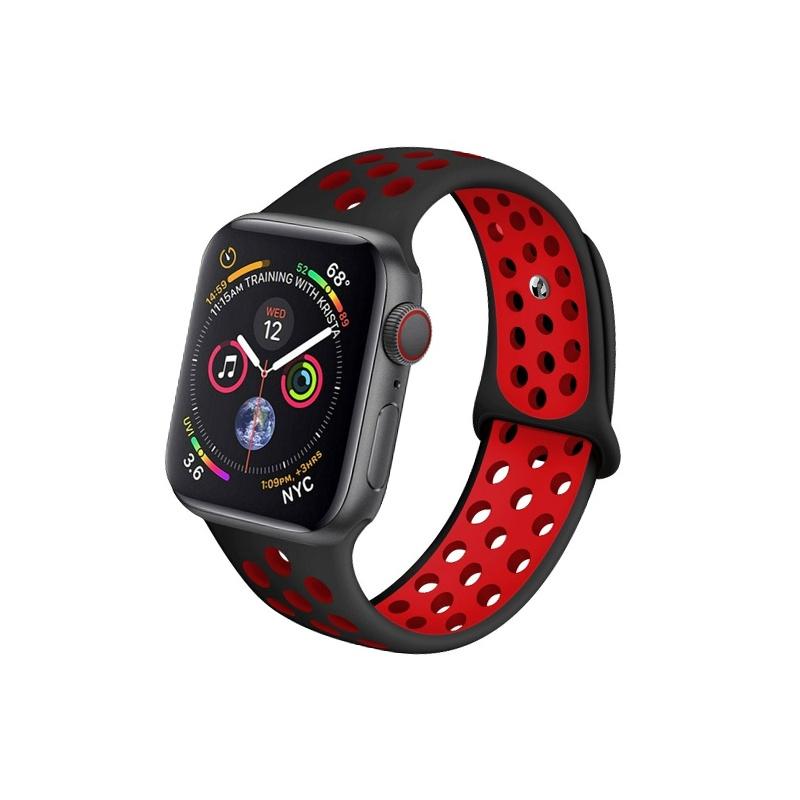 Remienok na Apple Watch 38mm/40mm sport čierno-červený