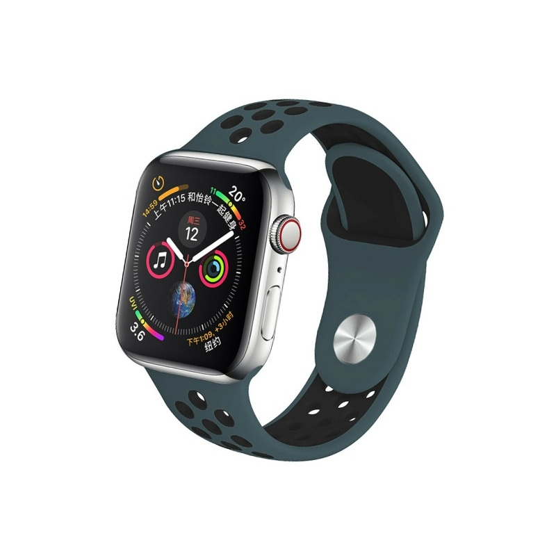 Remienok na Apple Watch 38mm/40mm sport modro-čierny