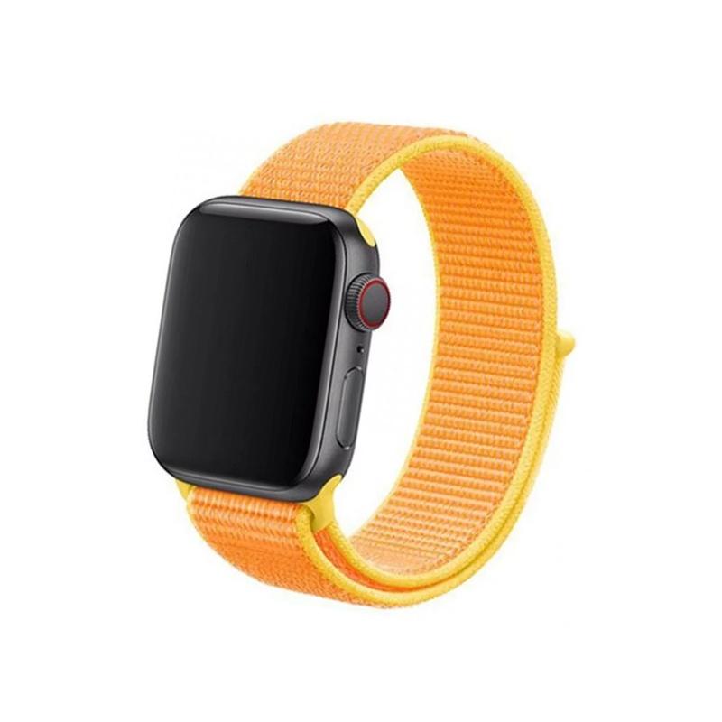 Remienok na Apple Watch 38mm/40mm látkový Canary Yellow