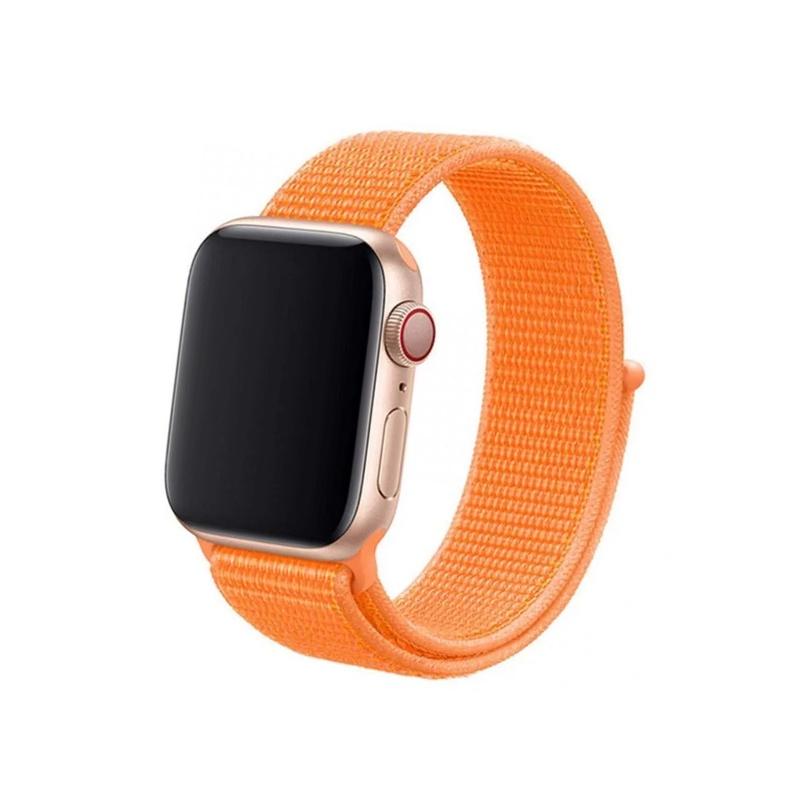 Remienok na Apple Watch 38mm/40mm látkový Papaya