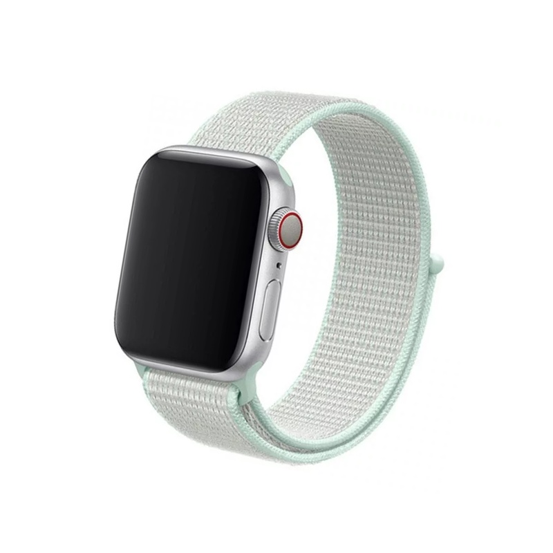 Remienok na Apple Watch 38mm/40mm látkový Teal Tint