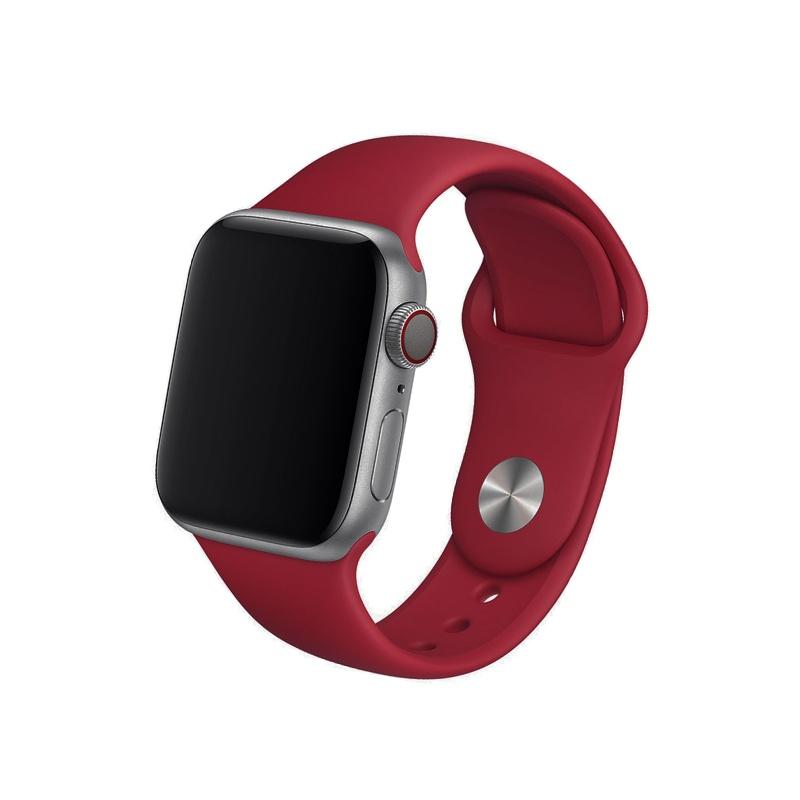 Remienok na Apple Watch 38mm/40mm silikónový červený