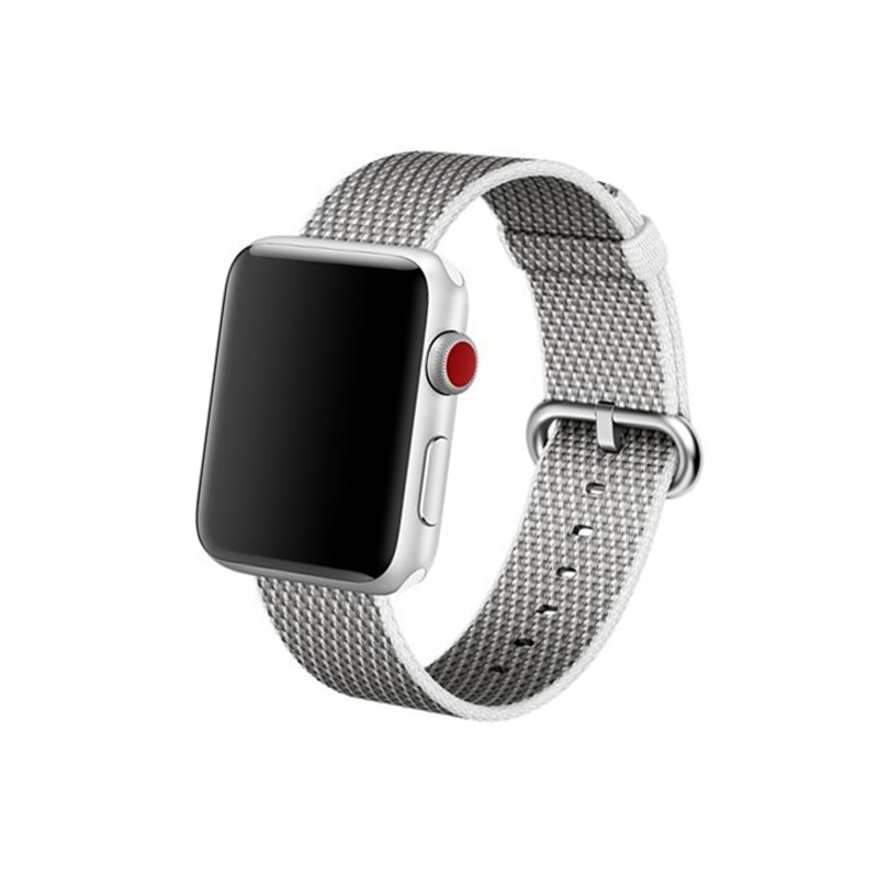 Remienok na Apple Watch 38mm/40mm Woven Black White