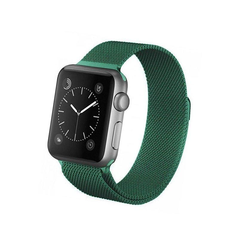 Remienok na Apple Watch 42mm/44mm Milanese Zelený