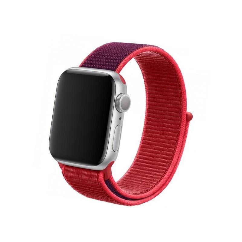 Remienok na Apple Watch 42mm/44mm Nylon Červený
