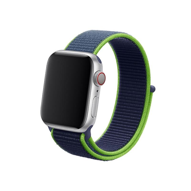Remienok na Apple Watch 42mm/44mm látkový modrý