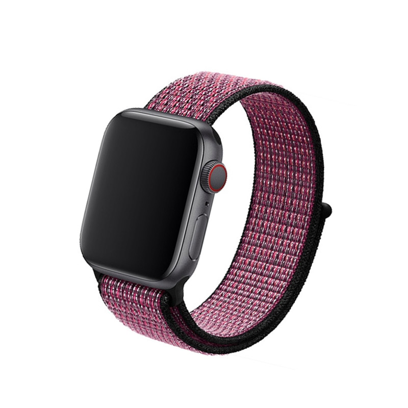 Remienok na Apple Watch 42mm/44mm Nylon Pink Berry