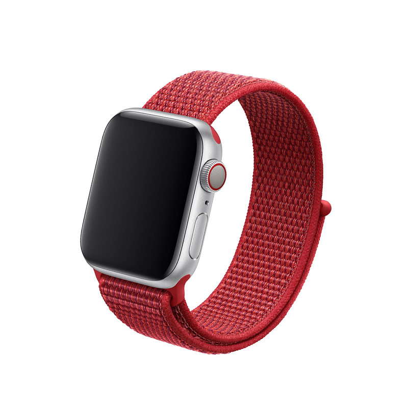 Remienok na Apple Watch 42mm/44mm látkový Red
