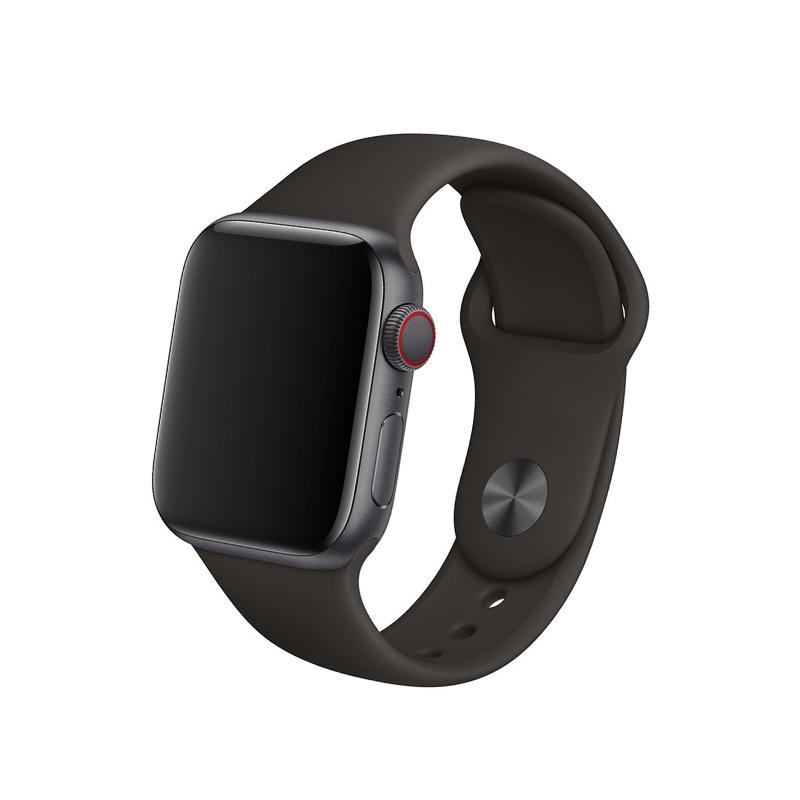Remienok na Apple Watch 42mm/44mm silikónový hnedý