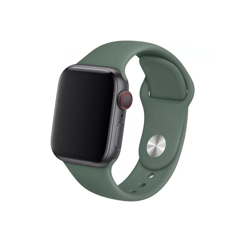 Remienok na Apple Watch 42mm/44mm silikónový tmavozelený