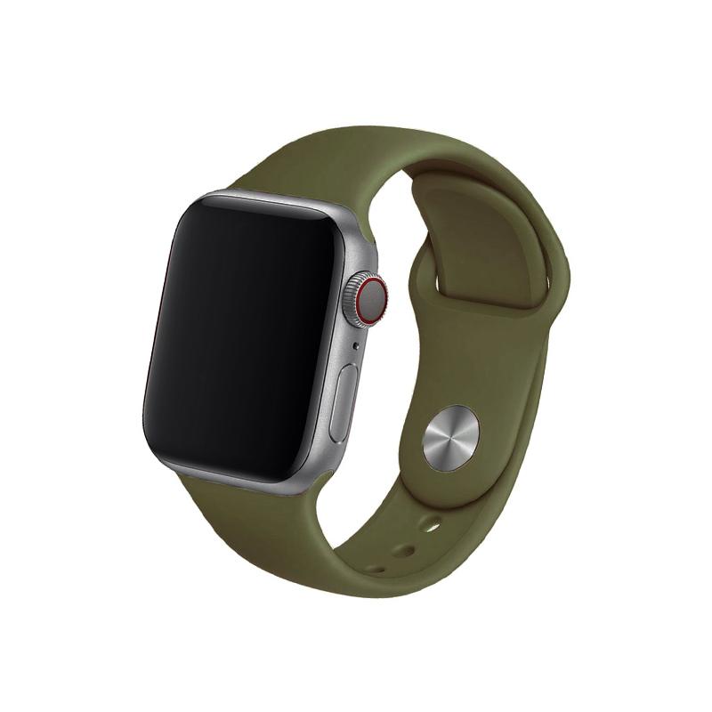Remienok na Apple Watch 42mm/44mm olivovo-zelený