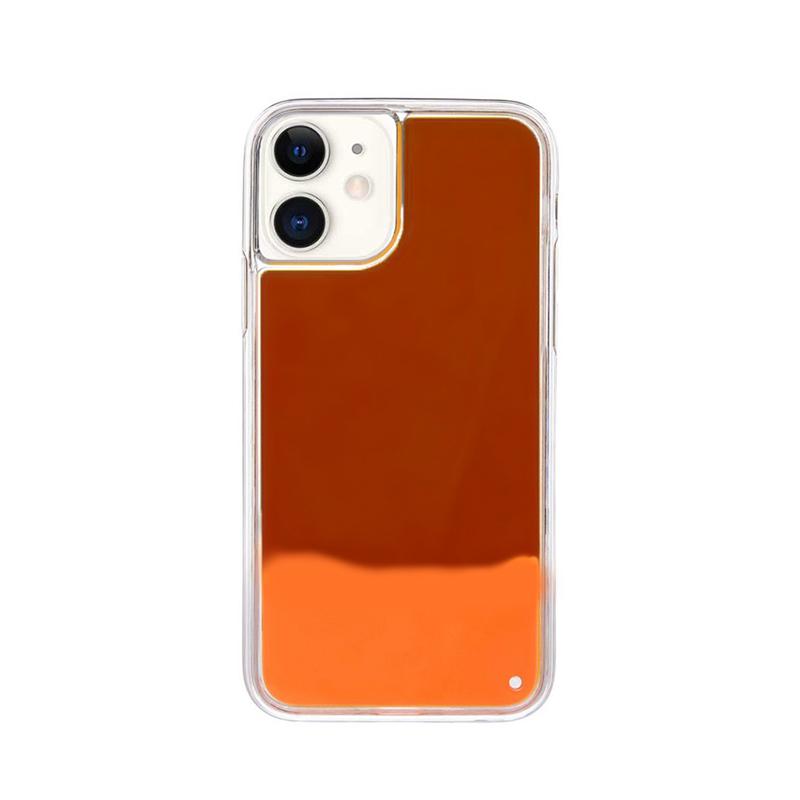 Silikónový kryt na iPhone 11 Neon Glowing červený