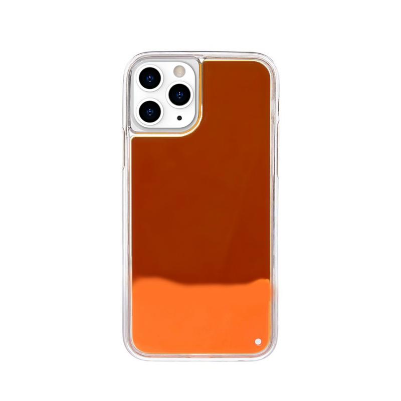 Silikónový kryt na iPhone 11 Pro Max Neon Glowing červený