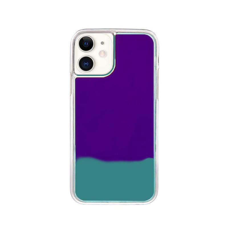 Silikónový kryt na iPhone 11 Neon Glowing modrý