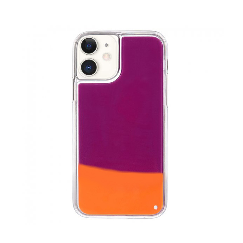 Silikónový kryt na iPhone 11 Neon Glowing oranžový