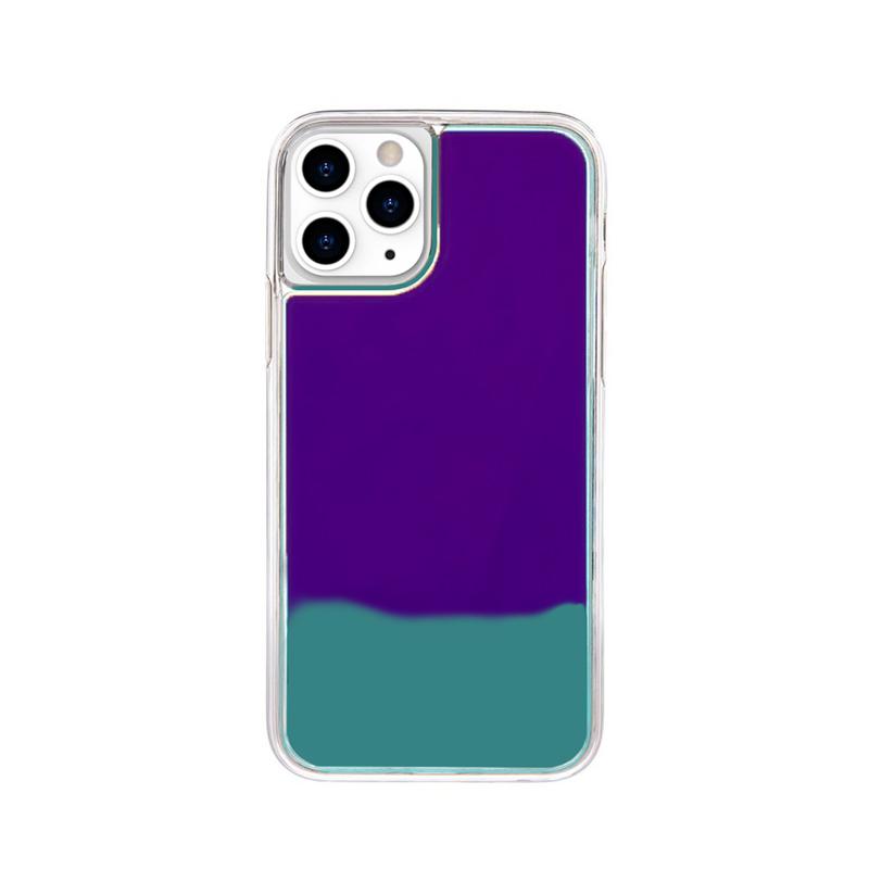 Silikónový kryt na iPhone 11 Pro Max Neon Glowing modrý