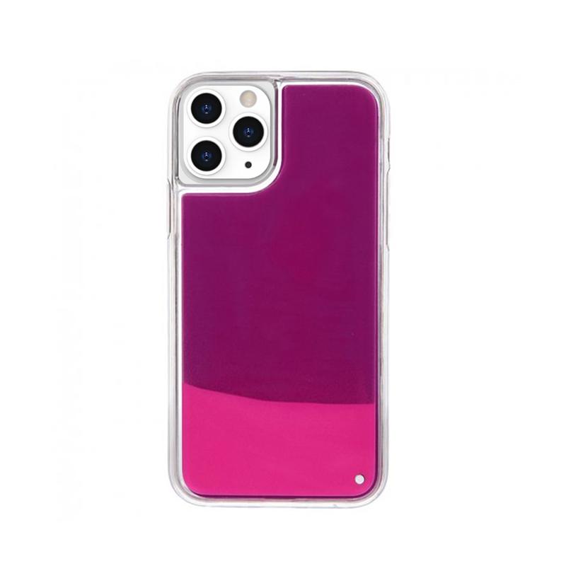 Silikónový kryt na iPhone 11 Pro Neon Glowing ružový