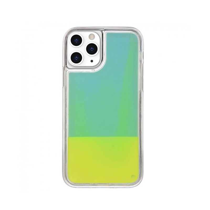 Silikónový kryt na iPhone 11 Pro Max Neon Glowing žltý