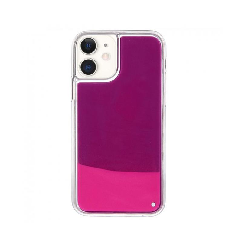 Silikónový kryt na iPhone 11 Neon Glowing ružový