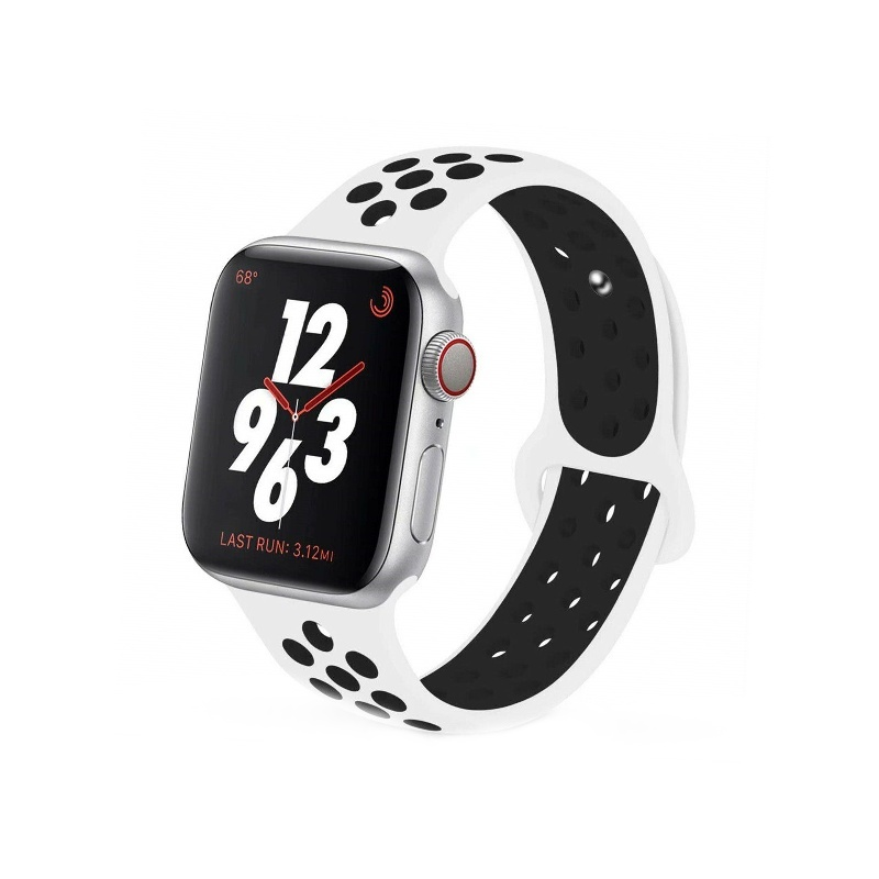 Remienok na Apple Watch 38mm/40mm sport bielo-čierny