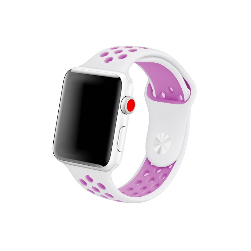 Remienok na Apple Watch 38mm/40mm sport bielo-fialový