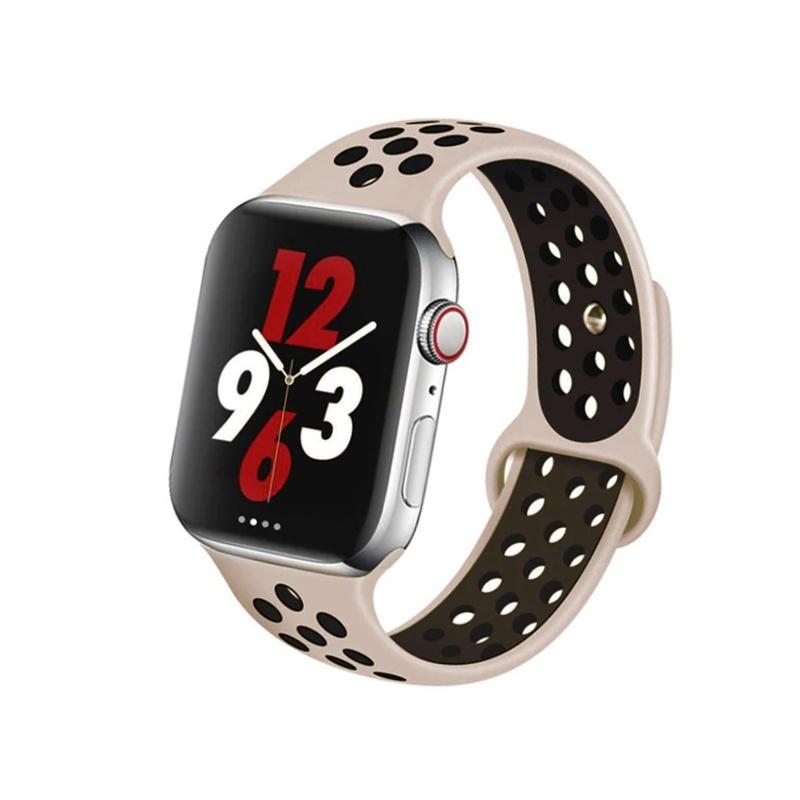Remienok na Apple Watch 38mm/40mm sport ružovo-čierny