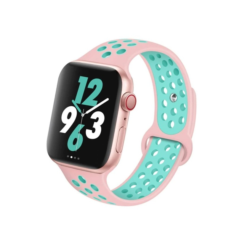 Remienok na Apple Watch 38mm/40mm sport ružovo-zelený