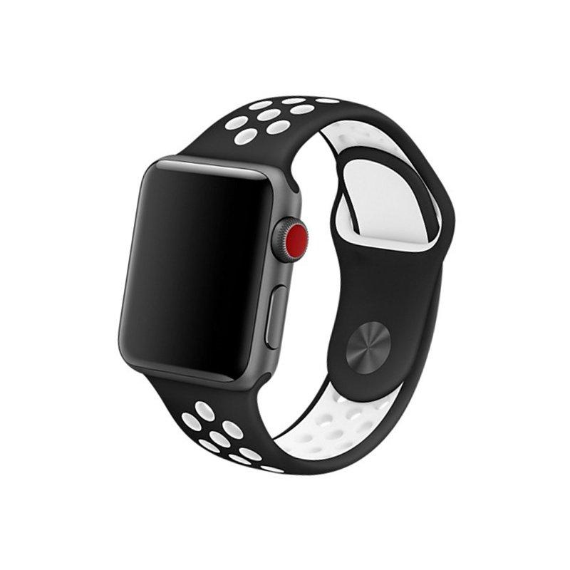 Remienok na Apple Watch 42mm/44mm sport čierno-biely