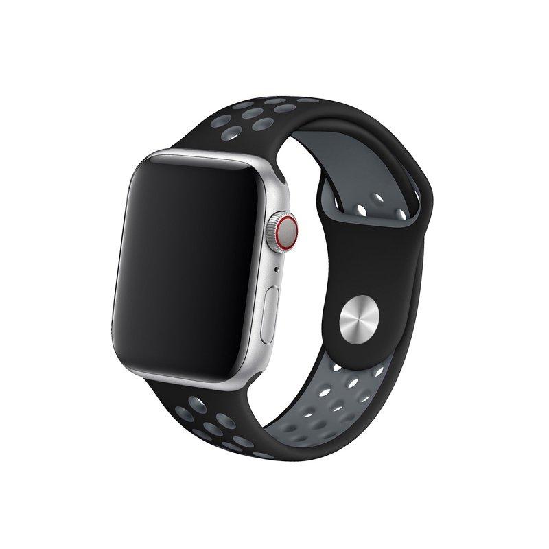 Remienok na Apple Watch 42mm/44mm sport čierno-sivý