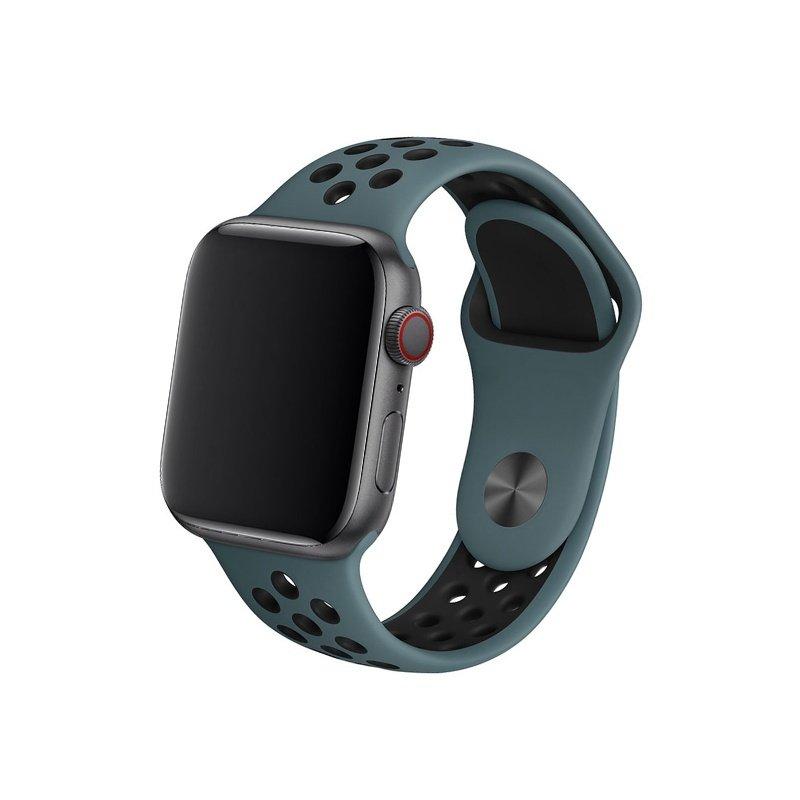 Remienok na Apple Watch 42mm/44mm sport modro-čierny