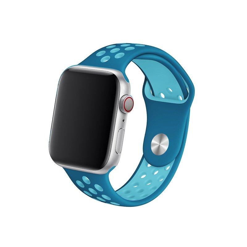 Remienok na Apple Watch 42mm/44mm sport modro-mentolový