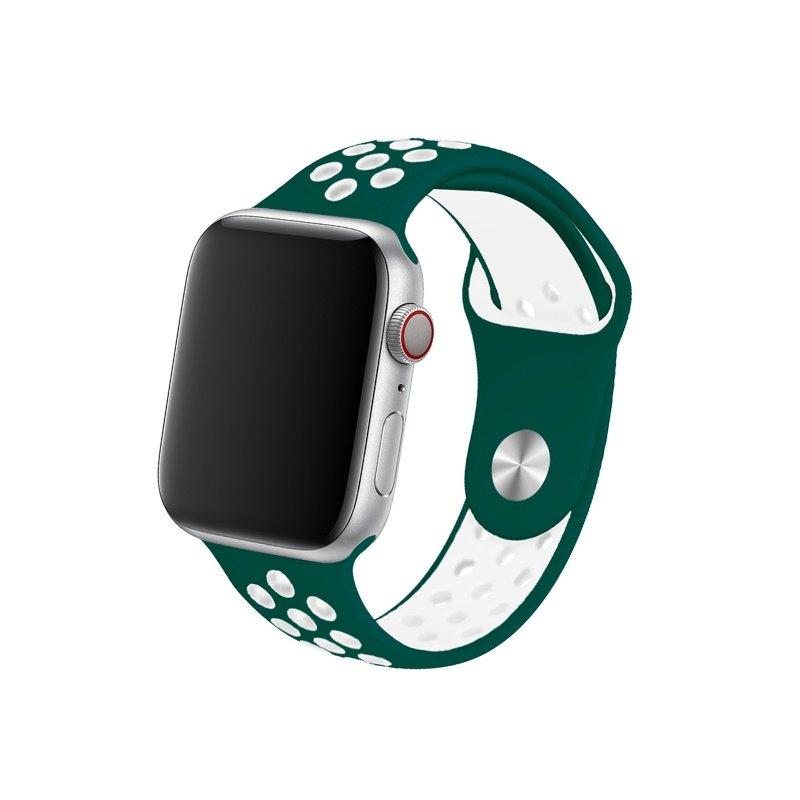Remienok na Apple Watch 42mm/44mm sport zeleno-biely