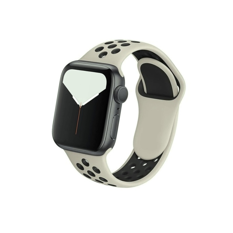 Remienok na Apple Watch 38mm/40mm sport béžovo-čierny