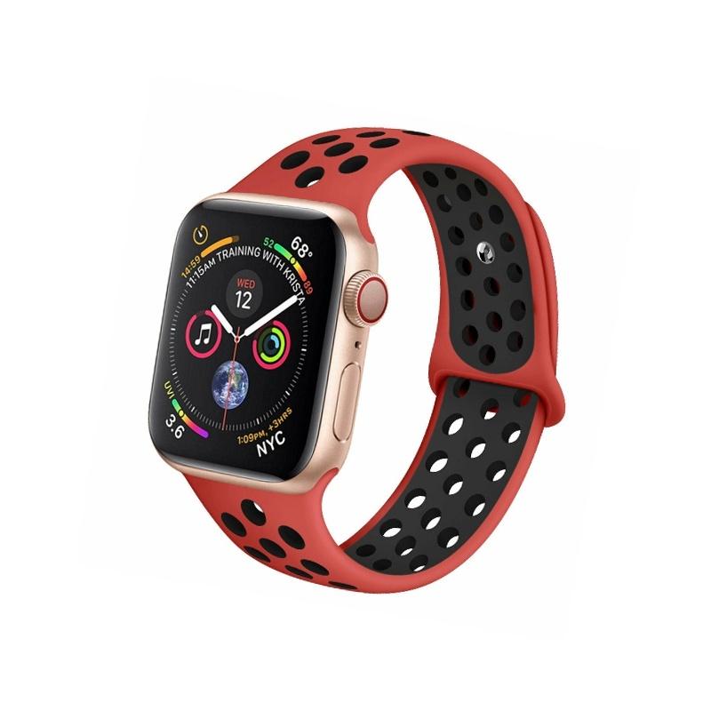 Remienok na Apple Watch 38mm/40mm sport červeno-čierny