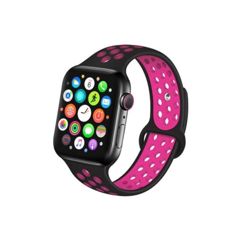 Remienok na Apple Watch 38mm/40mm sport čierno-ružový