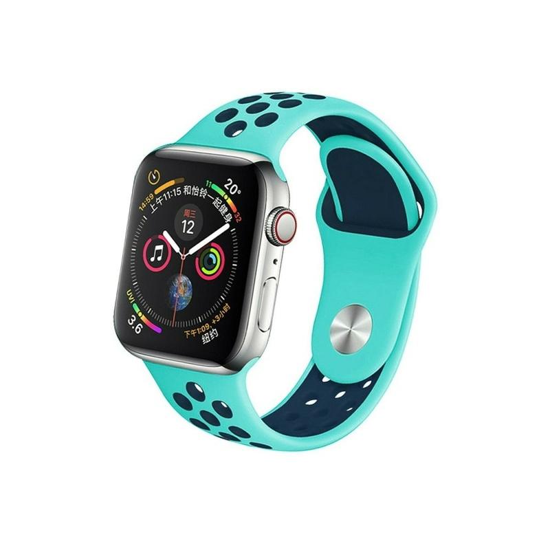 Remienok na Apple Watch 38mm/40mm sport mentolovo-modrý