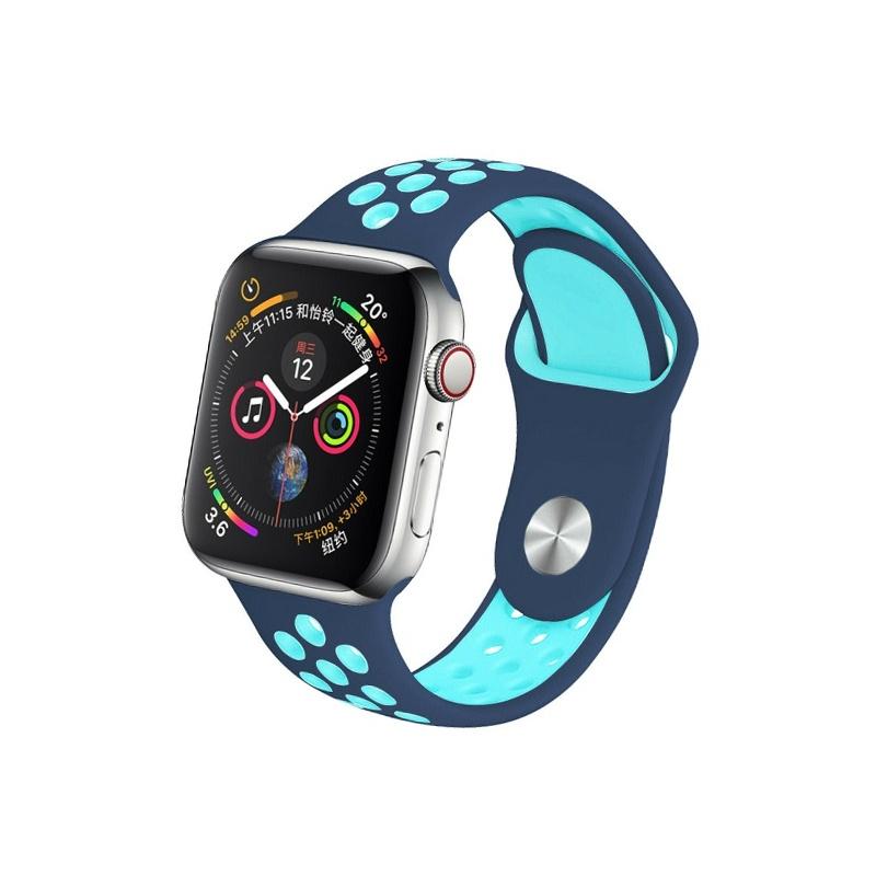 Remienok na Apple Watch 38mm/40mm sport modro-mentolový