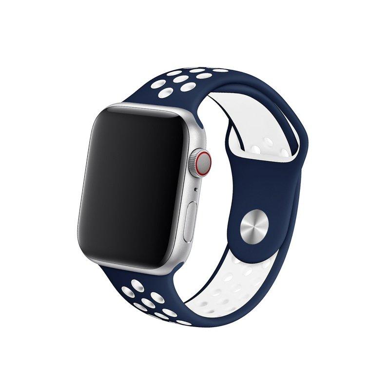 Remienok na Apple Watch 42mm/44mm sport modro-biely