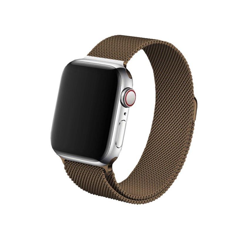 Remienok na Apple Watch 42mm/44mm Milanese Hnedý