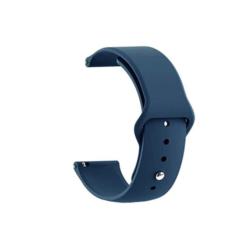 Remienok silikónový 22mm Slim Tmavo Modrý
