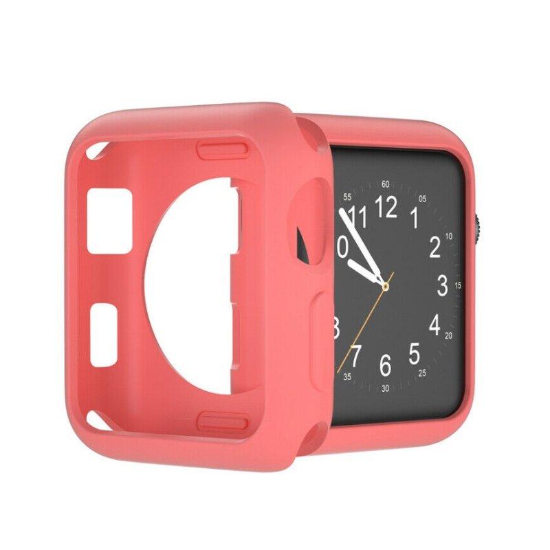 Obal na Apple Watch 38mm silikónový lososový