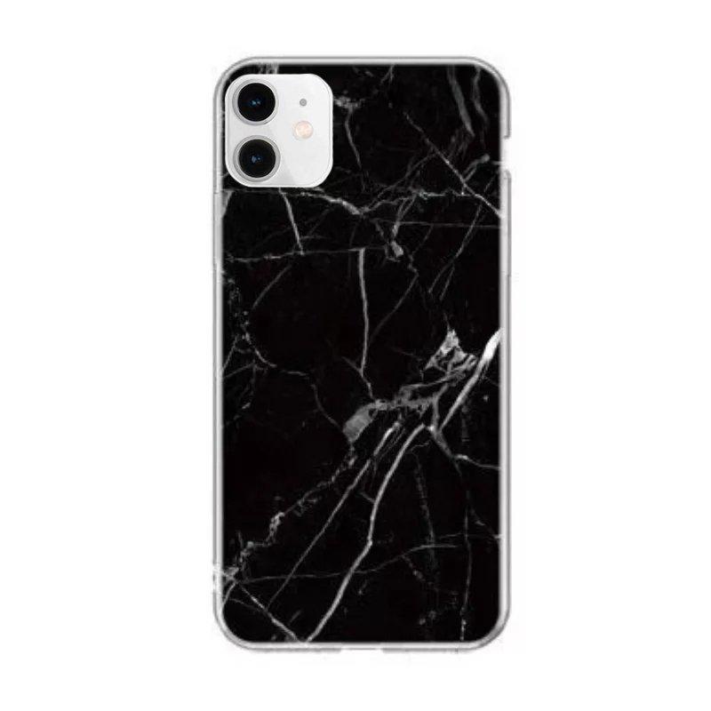 Silikónový kryt na iPhone 12 Mini Black Marble