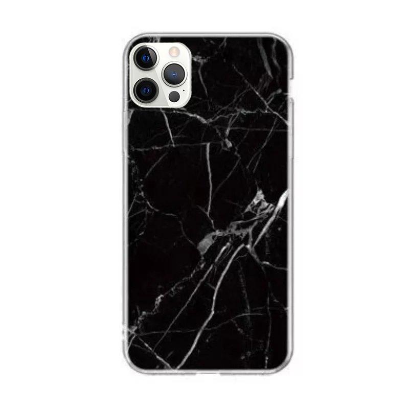 Silikónový kryt na iPhone 12/12 Pro Black Marble