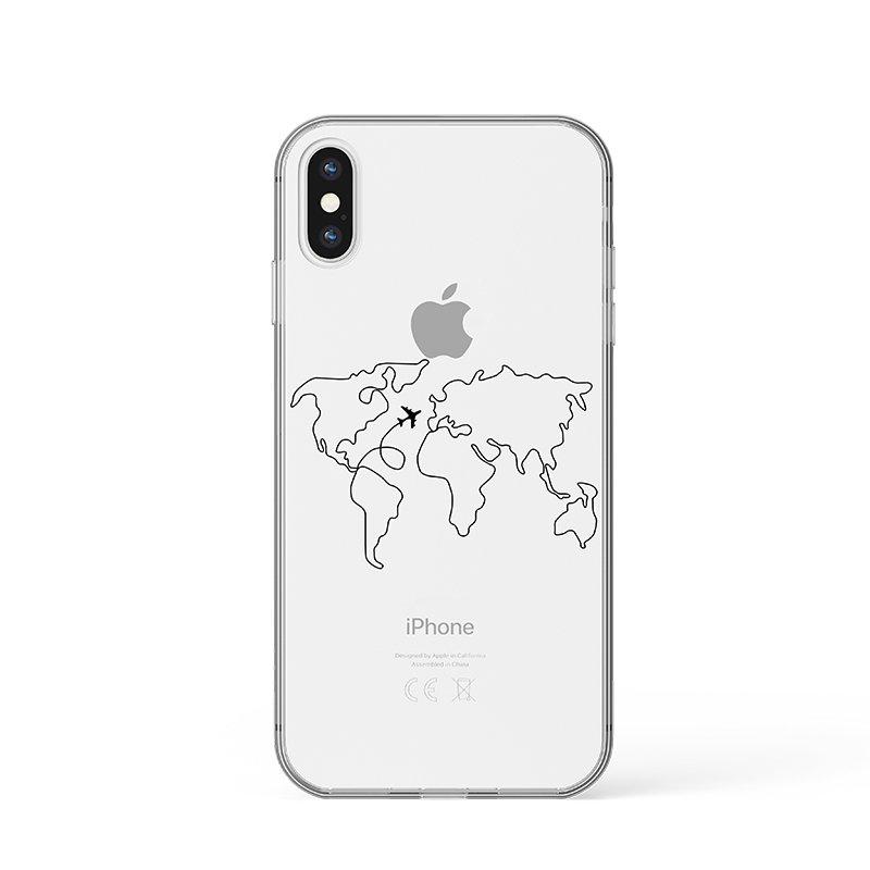 Line world map kryt na iPhone