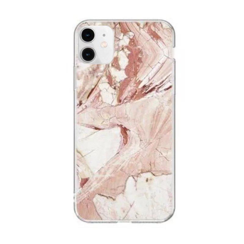 Silikónový kryt na iPhone 12 Mini Pink Marble