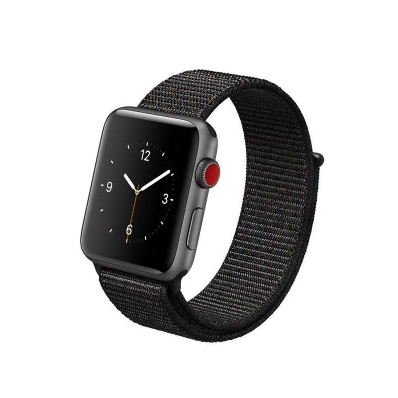 Remienok na Apple Watch 42mm/44mm látkový Čierny